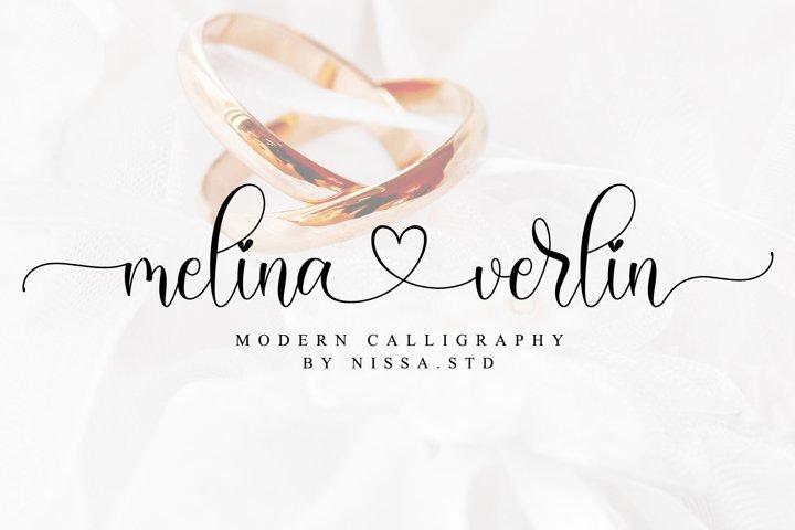 Melina Verlin - Lovely Script Font