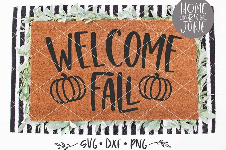 Welcome Fall Autumn Doormat SVG DXF PNG