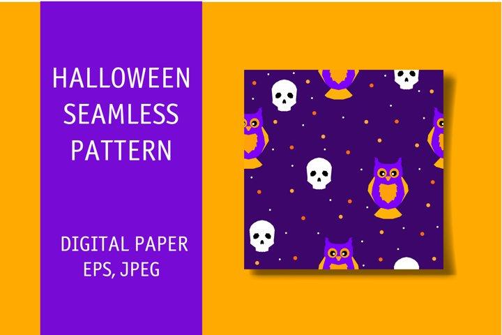 Halloween seamless pattern. Digital print.
