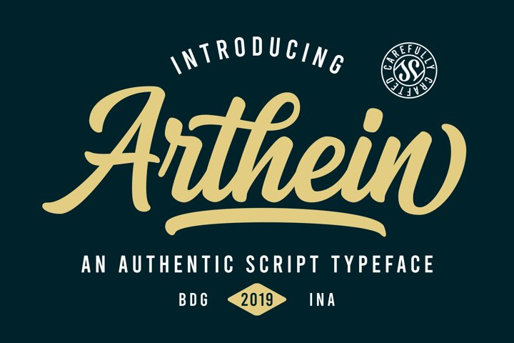 Arthein - Free Font of The Week Font