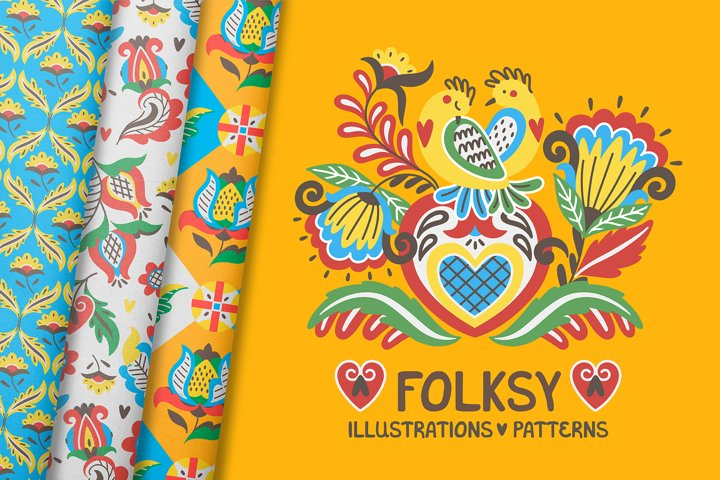 FOLKSY | graphics set