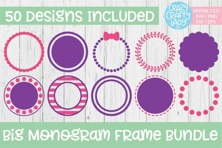 Big Monogram Frame SVG DXF EPS PNG Cut File Bundle