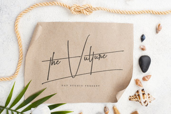 the Vulture - Signature Font
