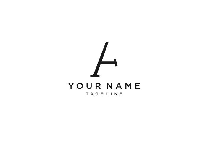 Letter A Logo With Creative Modern Typography Vector Templat