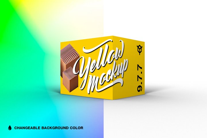 9.7.7 Simple 3D Box Mockup PSD