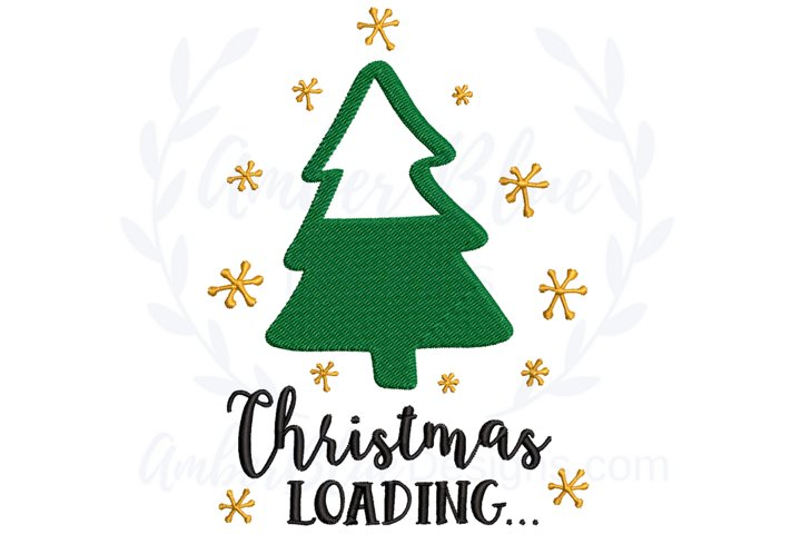 Christmas Loading Embroidery File