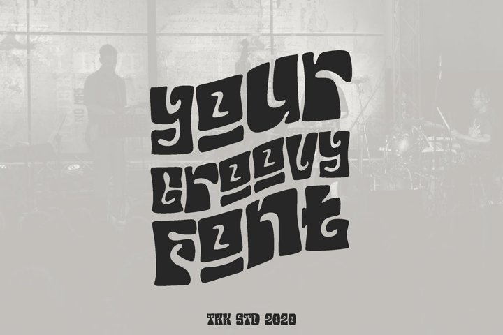 Your Groovy Font - Retro Psychedelic 70s Font