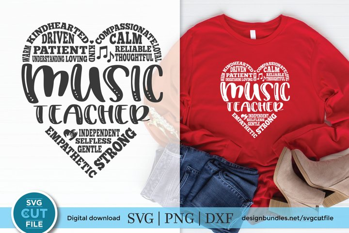Music Teacher svg - a school music teacher svg for crafters