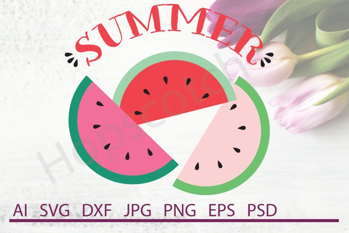 Watermelon SVG, Summer SVG, Juice SVG, DXF File, Cuttable File