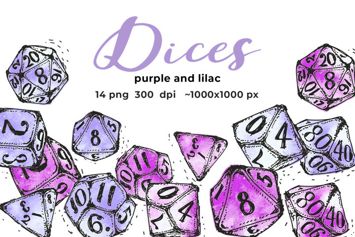 Blue and purple dices