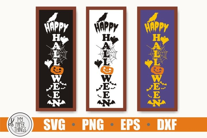Halloween Porch sign, Halloween Vertical sign svg