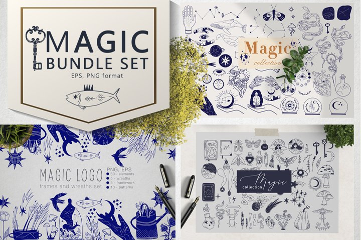 Magic bundle set. Black Friday.