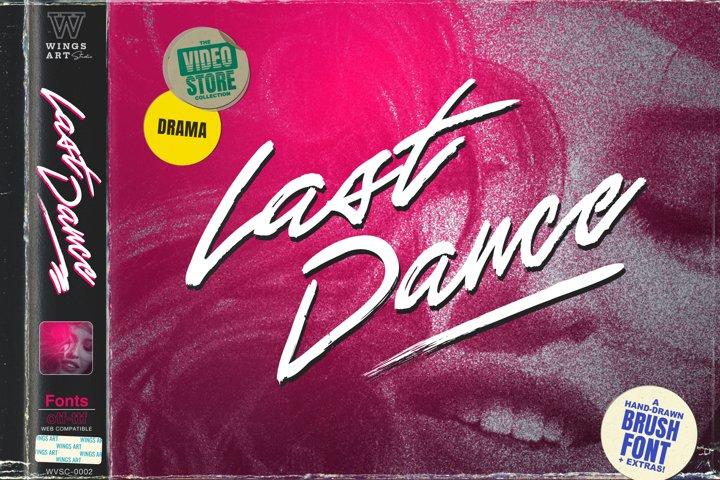 Last Dance - An 1980s Movie Inspired Handmade Script Font