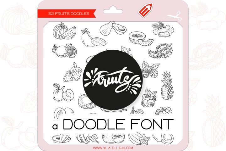 Fruits Doodles - Dingbats Font