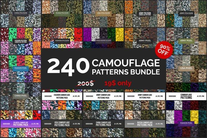 240 Camouflage Patterns Bundle