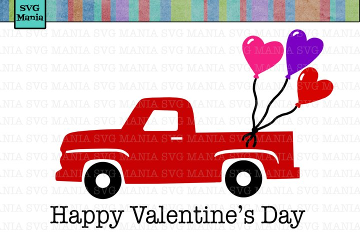 Kids Valentine SVG File, Red Truck SVG Buffalo Plaid HTV