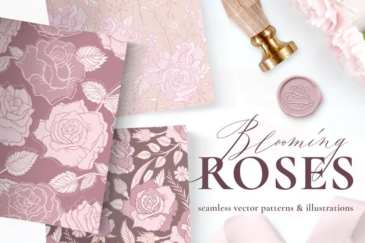 Rose Flower Patterns & Clipart