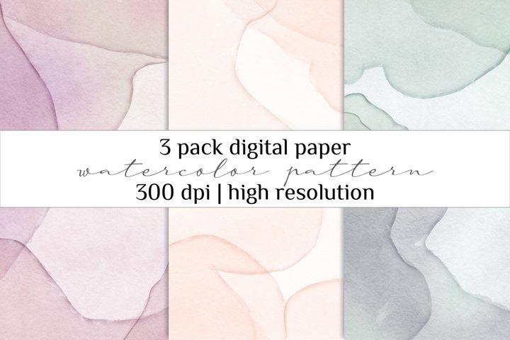 Watercolor Digital Paper Pack