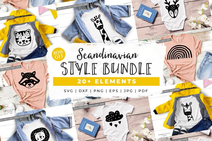 BUNDLE! Scandinavian Style Animal Bundle - SVG Cut Files
