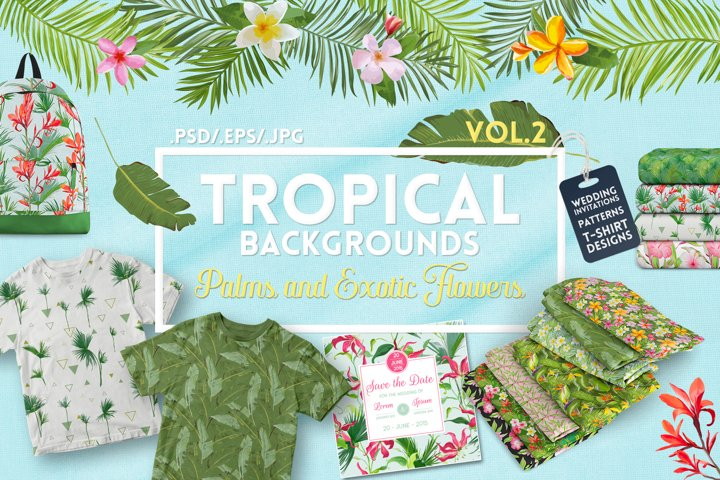 Tropical Palms Backgrounds