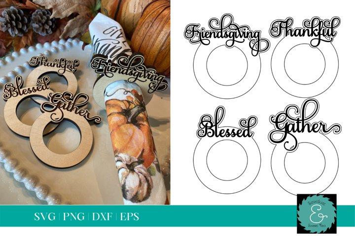 Napkin Rings SVG, Friendsgiving SVG, Thanksgiving SVG