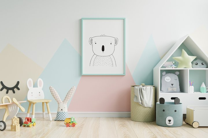 Wall art,Cute Koala bear animal clip art,instant download