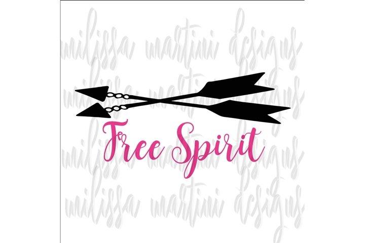 Free Spirit SVG Cut File example 2