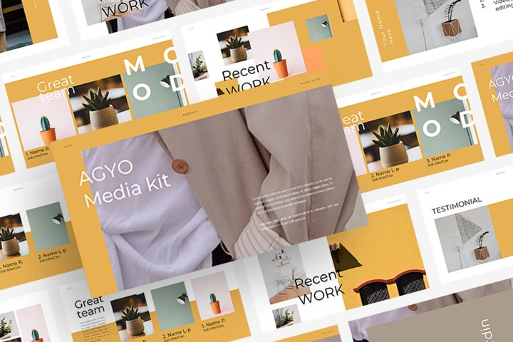 AGYO - Media Kit Powerpoint Template
