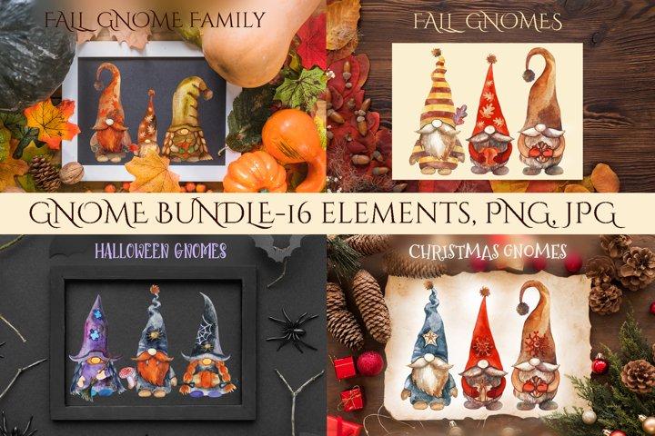 Gnome Bundle. Christmas Gnomes. Halloween Gnomes. Fall gnome
