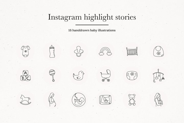 Instagram Baby Highlights Icons | Instagram Story Covers