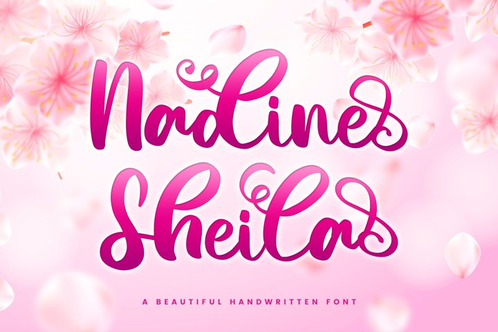 Nadine Sheila - Beautiful Script Font