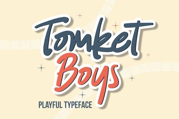 Tomket Boys - Playful Typeface