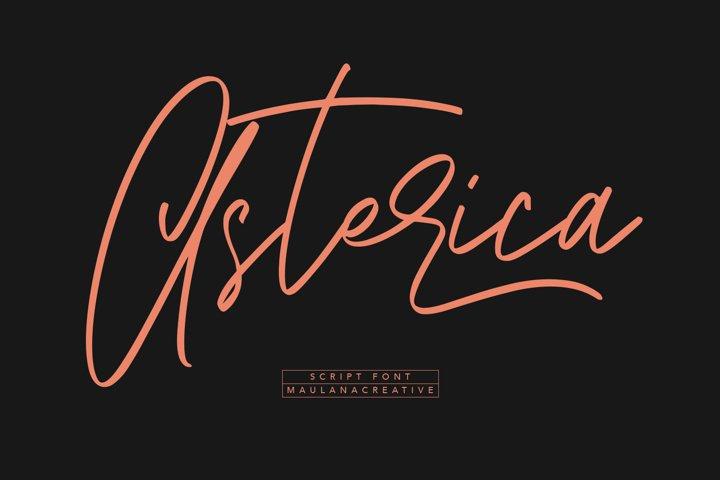 Asterica Signature Script Font
