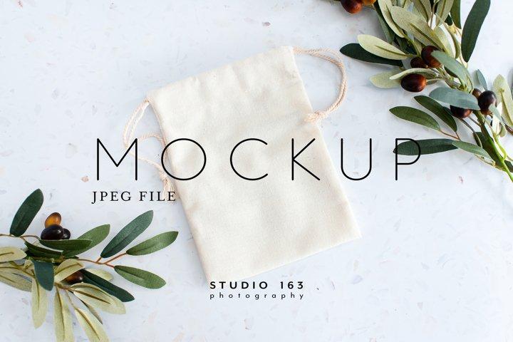 Favor Bag Mockup, Fabric Bag, Stock Photo, Wedding, JPEG