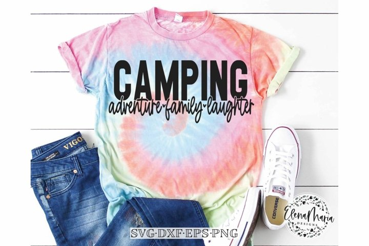 Camping Adventure Family Laughter Svg File