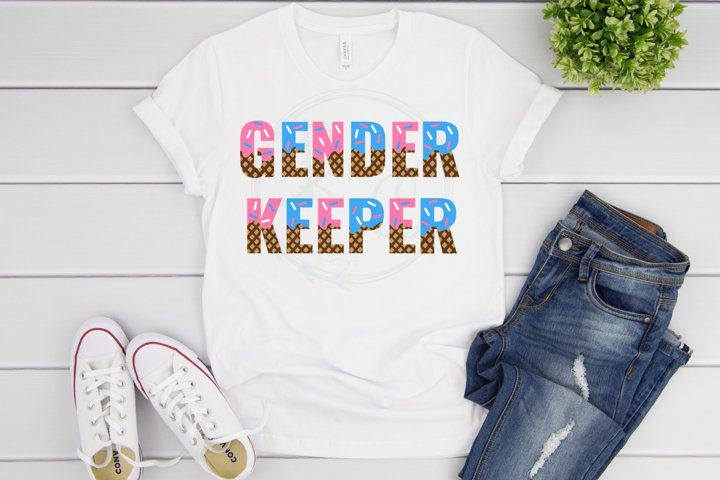 Gender Keeper SVG, Ice Cream Gender Reveal SVG
