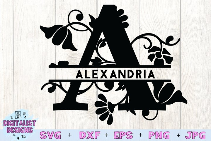 Split Monogram SVG Letters