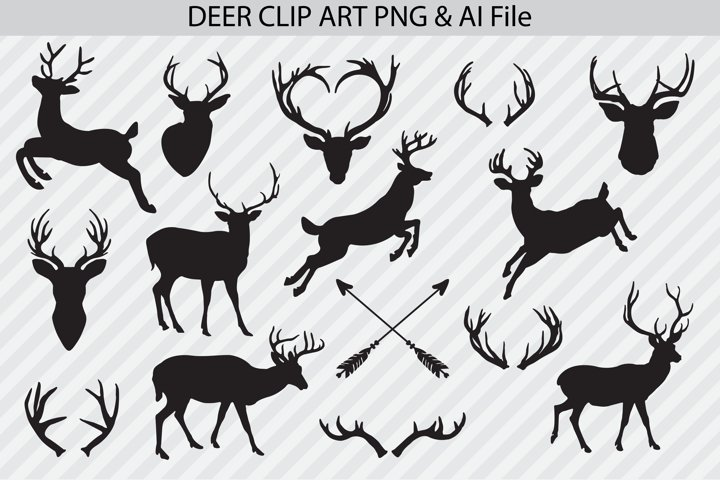 Deer Clip Art & Vectors