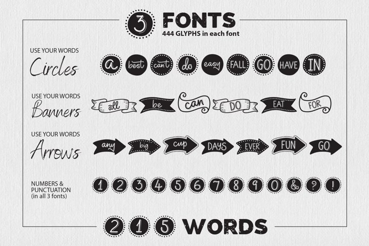 Use Your Words catchwords font with FREE SVG designs - Free Font Of The Week Design11