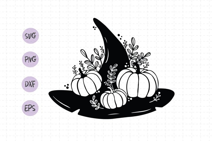 Witch hat svg / Halloween hat svg / Wizard hat svg / Cricut