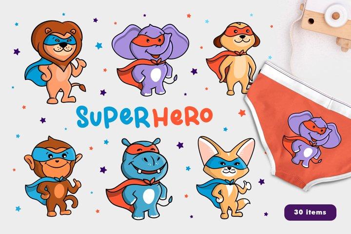 Set of Animals who are Super Hero