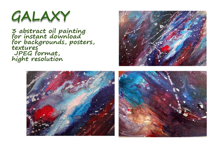 Galaxy. oil painting spacescape