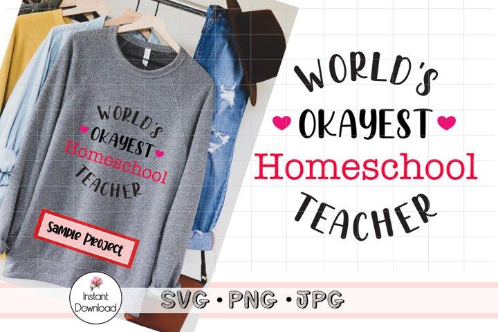 Homeschool Teacher SVG, Homeschool Mom Cut File