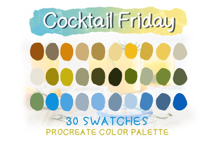 Cocktail Friday Procreate Color Palettes
