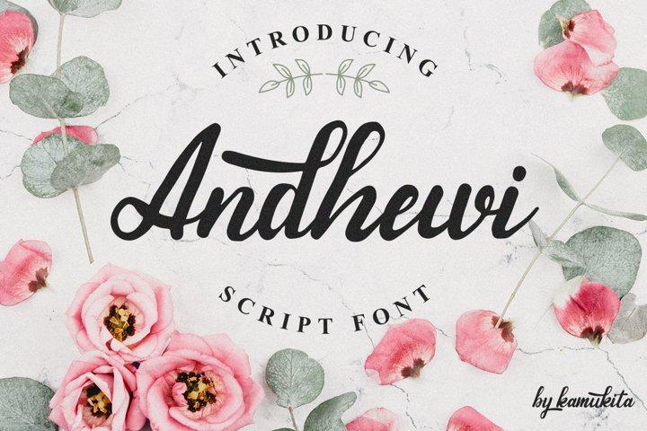 Andhewi Script Font