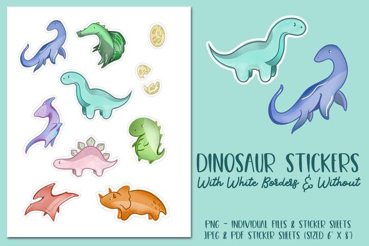 Dinosaur Printable Stickers