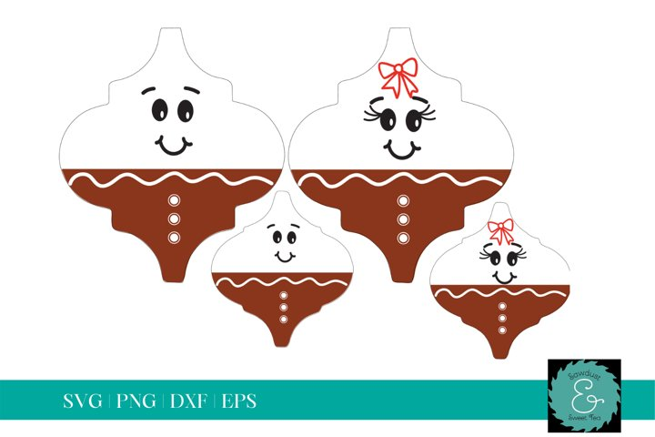 Tile Ornament SVG, Arabesque Tile SVG, Gingerbread Family