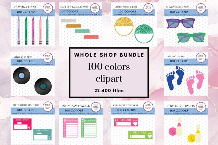 Whole Shop Stickers Bundle, Entire Store Deal, 100 Clipart