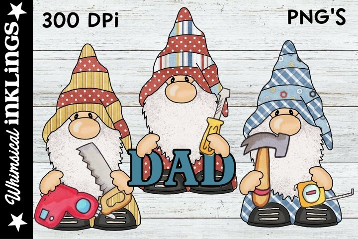 Fathers Day Gnomes Sublimation Clipart