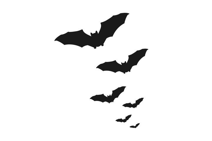 Swarm of bats vector